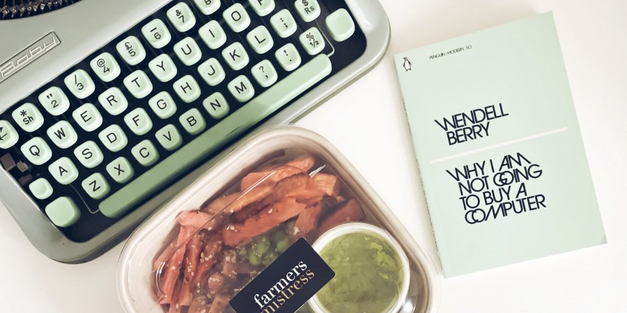 Dinner with a Book: Why I am not Going to Buy a Computer