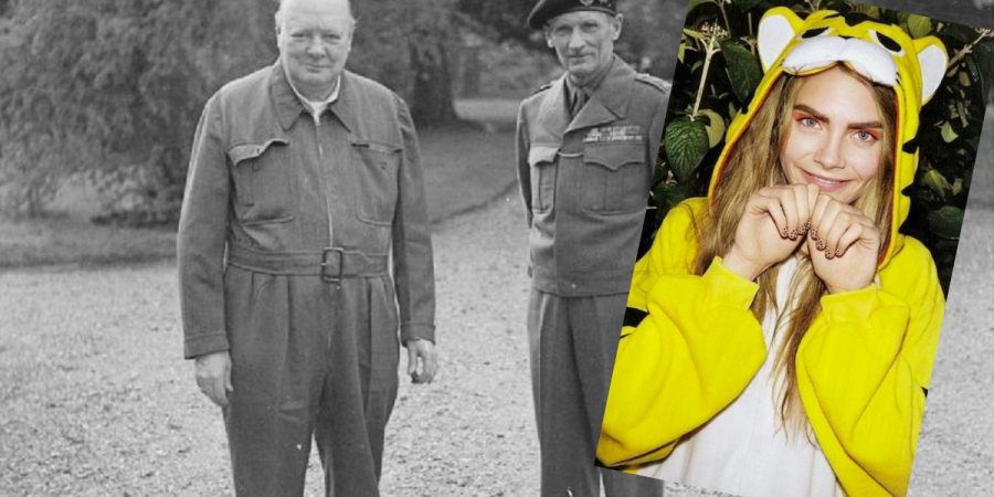 A History of the Onesie: From Churchill to Cara